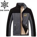 ONE SNOW Brand Hiking Jacket Men Outdoor Thicken Fleece Jacket Antistatic Windproof Warm Winter Coat Polar Fleece Camping Jacket