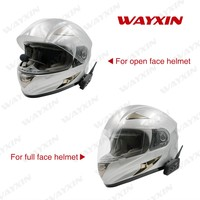 2PCS 2018 New V6 Motorcycle Bluetooth 3 0 Helmet Intercom Headset 1200M Moto Wireless BT Interphone