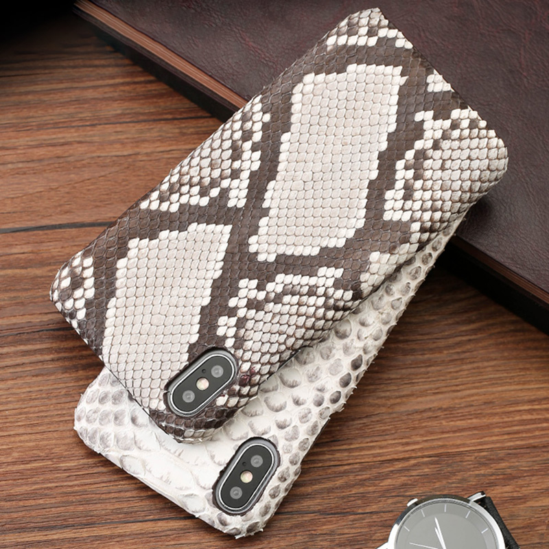Luxury Snake skin Phone Cases For iPhone 7 8 Plus Case iphone X Xs Max Python Skin Back Cover 6 6s 6p 7p 8p case
