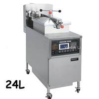 24L Gas Deep Fryer With LCD Computer Control Panel Digital KFC Chicken Oil Pressure Fryer With
