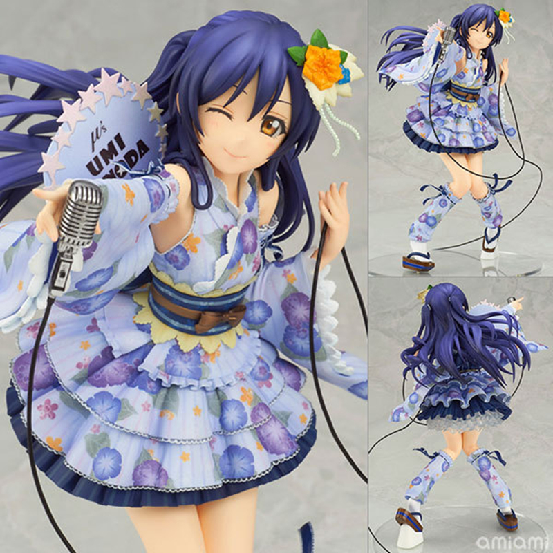 QICSYXJ Birthday Gift Love Live Action Collection 21cm Sonoda Umi Model Anime Toy Figure Decorations new love live cosplay shoes sonoda umi lonelive anime party boots custom made