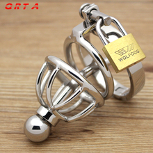 2017 Sex Toys for Men Metal Cock Ring Penis Sleeve Stainless Steel Chastity Belt Catheterization Is The Short Version of Device