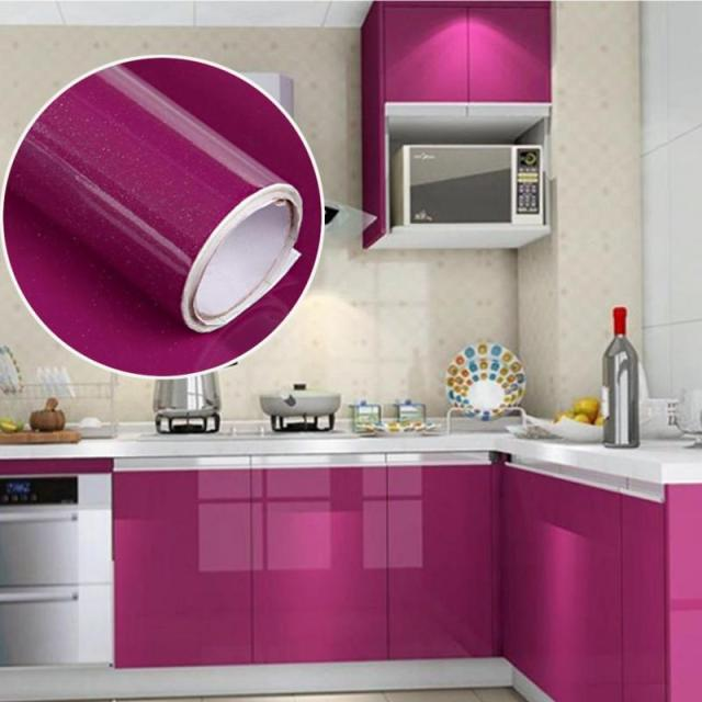 60*200cm Kitchen Cabinet Solid DIY Decorative Film Furniture Varnish  Renovation Wall Sticker PVC Self