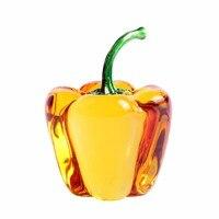66ミリメートル黄色ガラスクリスタルコショウ文鎮土産スムージーかなり野菜贈り物工芸品お土産家の装飾贈り物