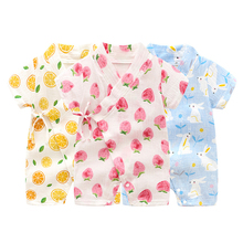 Summer Cool Newborn Baby Sleepwear Toddler Infant Pajamas Casual Romper Cotton Short Sleeve Clothes Sunsuit Outfits