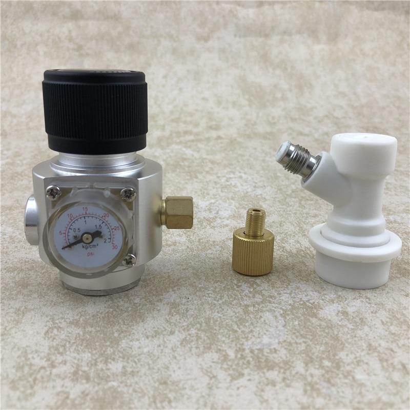 CO2 Mini Gas Regulator & corny keg ball lock disconnect