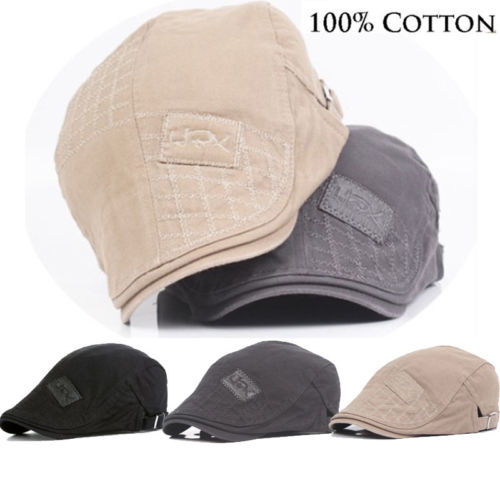 New Cotton Men Beret Cap  Adjustable Hats  Men Ivy Cowboy Hat Golf Driving Winter Flat Cabbie  Newsboy Caps