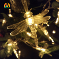 2017 NEW 5M 50LED Lights Dragonfly led String AA battery Garland Pandant Light for Garden Decoration Party Decoration Supplies