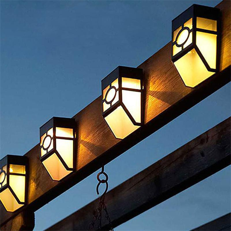 8b6c422bb الشرفة Led الشمسية مصباح للماء الشمس جدار مصابيح تعمل بالطاقة الشمسية لوحة  ضوء الشارع حديقة المسار أضواء الأبيض الدافئة الأبيض الشمعدان