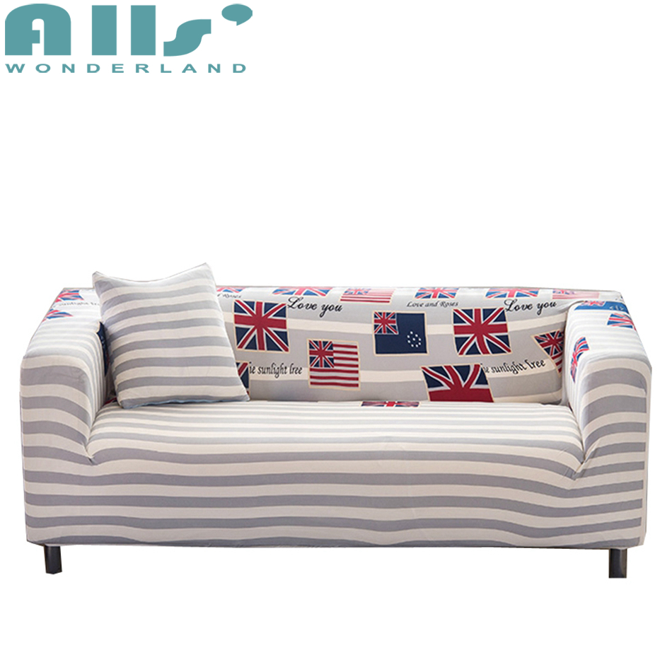 Good Deal Grey stripes couch sofa covers for living room single ...