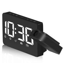 лучшая цена ABFP Projection Alarm Clock Radio - FM Radio Alarm Clock With Dimmer, Ultra Clear Led Digital Alarm Clock To Ceiling Wall, Dua