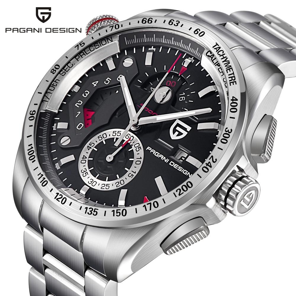 Brand Watches Men Chronograph Watch Male Luxury Waterproof Leather Sport Quartz Watch Military Wrist Watch Men Clock horloge стоимость