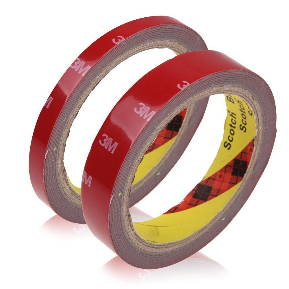 Hot 1 Roll 1cm width Auto Acrylic Plus Double Sided Attachment Tape Car Truck Van 3m auto tape size 10 15 20mmx3m double sided sticker acrylic foam adhesive car attachment interior tape free shipping