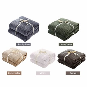 Image 3 - CAMMITEVER Luxury Blankets Mesh Flannel Blanket Thickened Coral Fleece Soft Luxurious Solid Blanket for Sofa/Bed Soft Throw