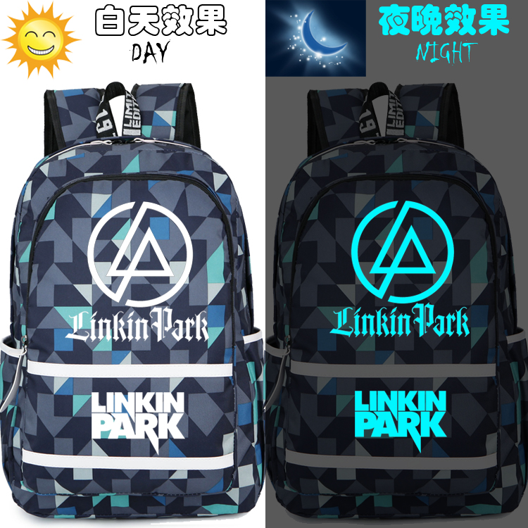 Hot-sale Rock Band Linkin Park Backpack Chast Benin Dayton Memorial Students Luminous Schoolbag Women Men Boy Girl Travel Bag