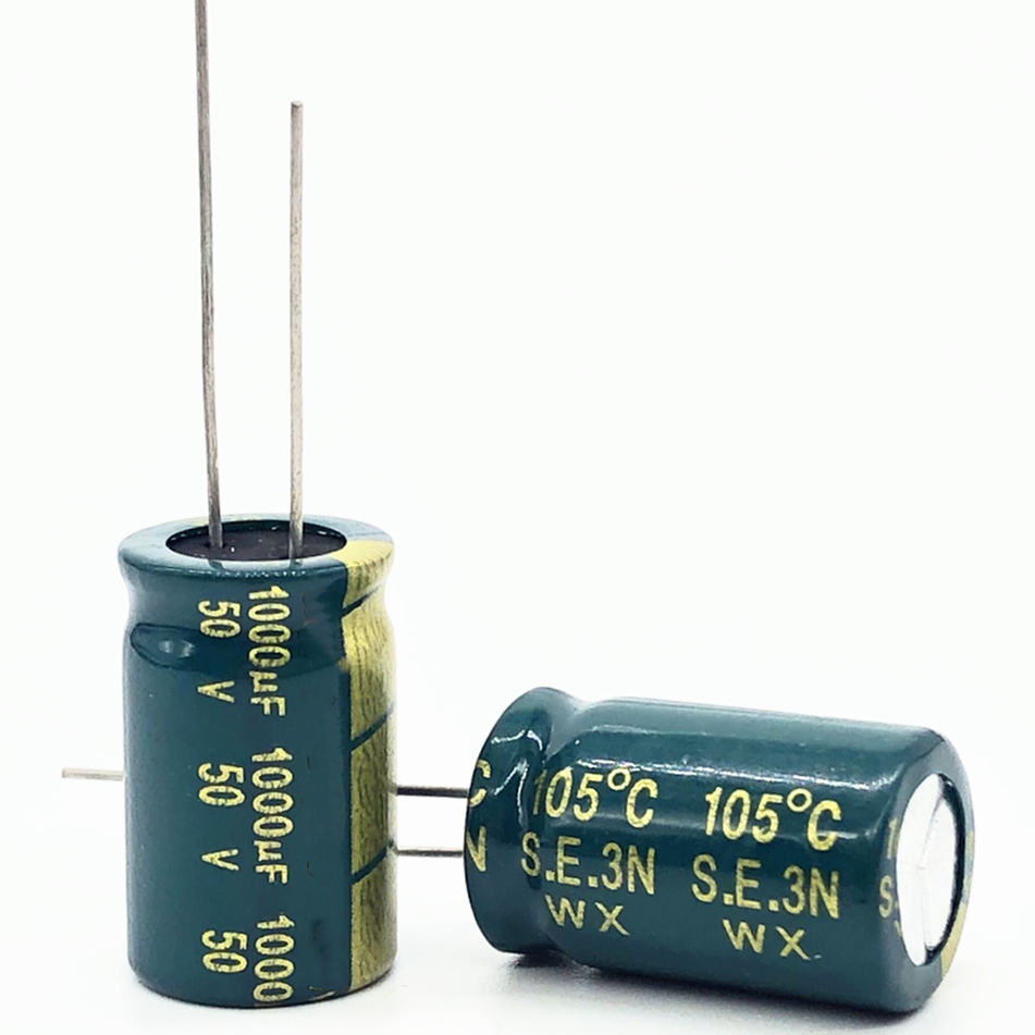 30-50pcs/lot 50V 1000UF High Frequency Low Impedance Aluminum Electrolytic Capacitor 1000uf 50v 20%