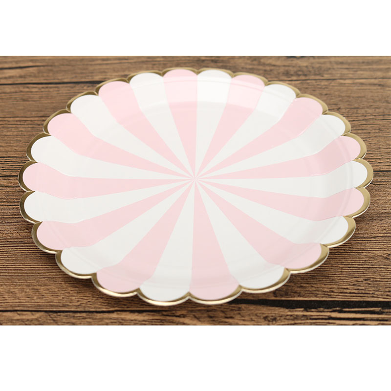 Party tableware Eco friendly Pink foil gold Scallop Paper Plates for Wedding Nursery Party Tableware Party Supplies-in Disposable Party Tableware from Home ...  sc 1 st  AliExpress.com & Party tableware Eco friendly Pink foil gold Scallop Paper Plates for ...