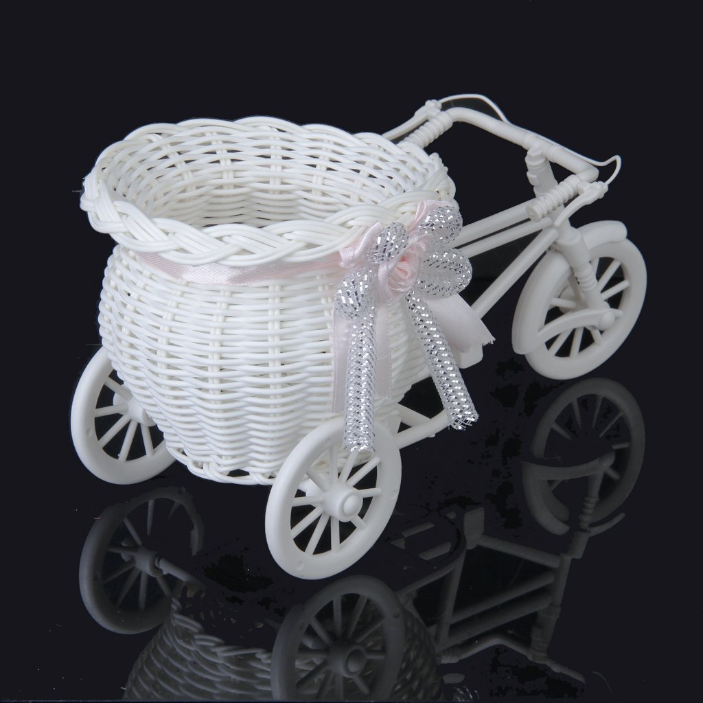 H10 Handmade Tricycle//Bike Shape Flower Basket for Flower Storage//Arrangement