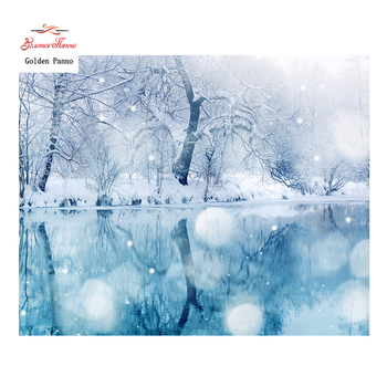 Golden Panno,Needlework,DIY DMC Cross stitch,Sets For Embroidery kit 14ct unprinted winter scenic cross-Stitching,christmas 0125