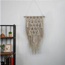 Knitting Bohemia Hanging Wall Tapestry Handmade Cotton Tassel Tapestries Living Room Wedding Decorations Wall Art Large Size