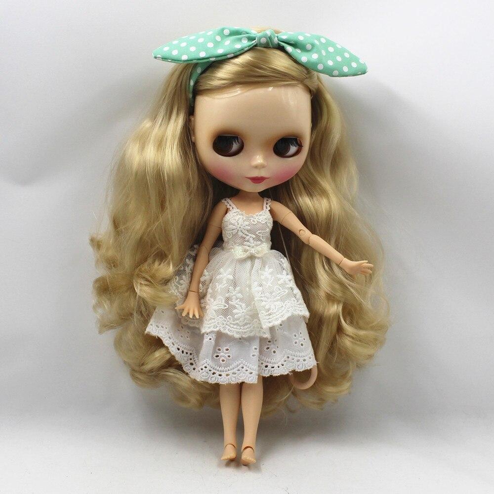 Fabriek blyth pop golden blond krullend lang haar side cutting joint body 280BL3715-in Poppen van Speelgoed & Hobbies op  Groep 2