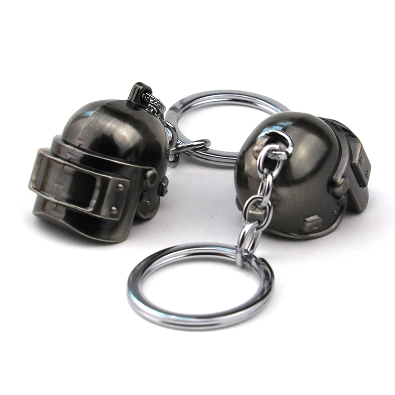 Steam game PUBG invitational Desperate to survive seires accessories helmet craniacea keychain pendant Keyring Jewelry