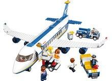 Nowy oryginalny aiboully b0366 niebieski samolot airbus model building blocks 483 sztuk/zestaw diy cegły zabawki edukacyjne kompatybilny prezent