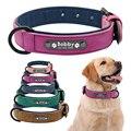 Персонализированные ошейники для собак кожаные ошейники для собак внутренний мягкий ошейник для питомцев для маленьких средних и больших ...