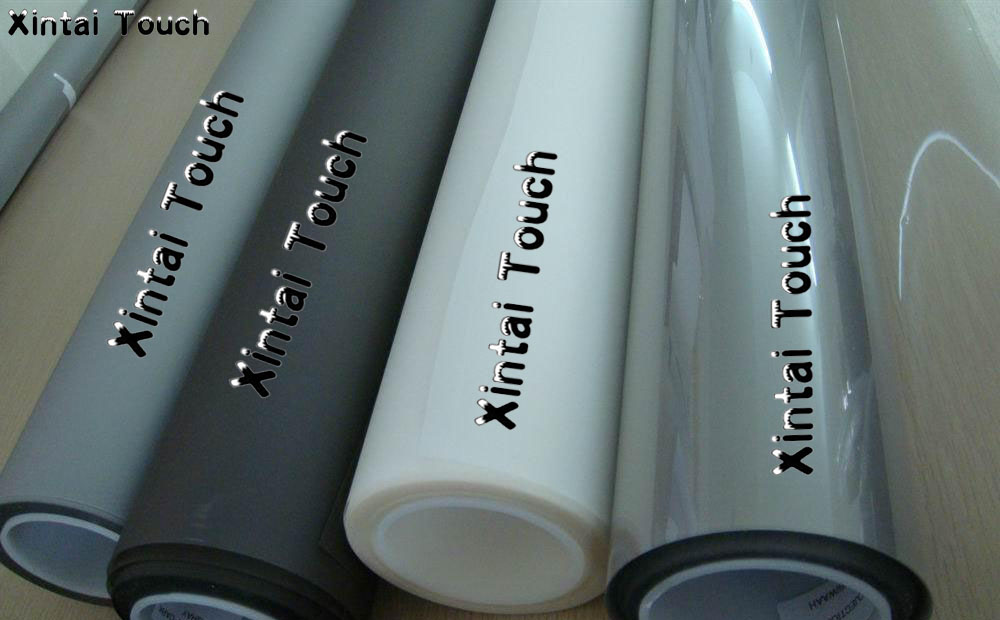 Free Shipping! 1.524M*30M Adhesive transparent Rear projection film/foil for 3d hologram transparent touch foil