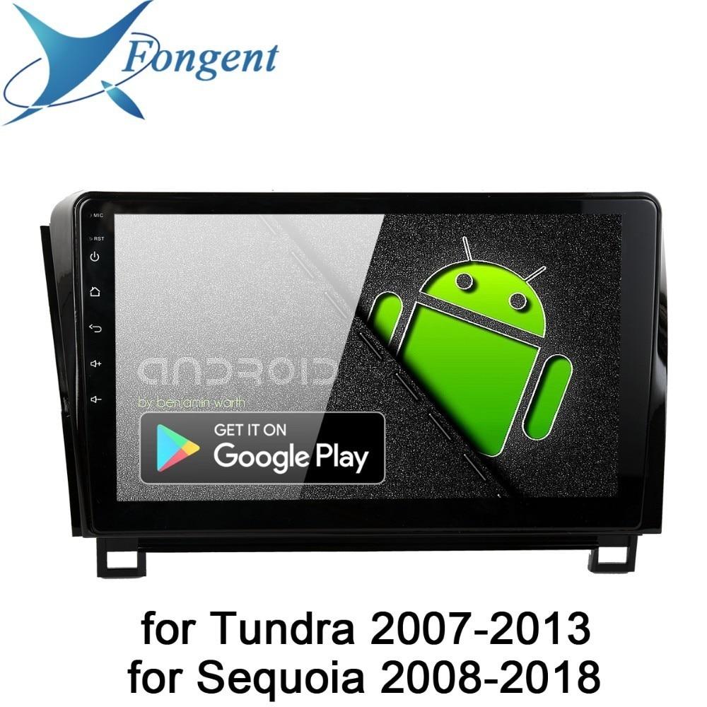 Android 9,0 Radio de coche para Toyota Tundra 2007, 2009, 2010, 2011, 2012, 2013 Sequoia 2008, 2014, 2015, 2016, 2017, 2018 multimedia 10,2 IPS