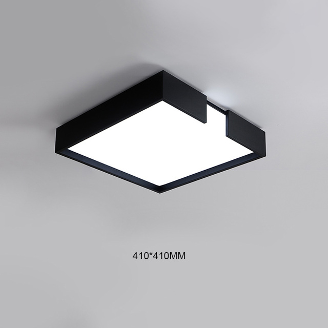 Modern 18w 32w Led Acrylic Flush Mount Lighting Fixture Simple Square White Black Ceiling Light For