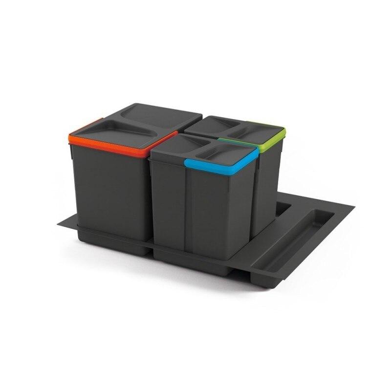 EMUCA 8935923 juego de контейнеры с основанием рециркуляции для ящика модуля 600 мм 15L, 7L, 7L