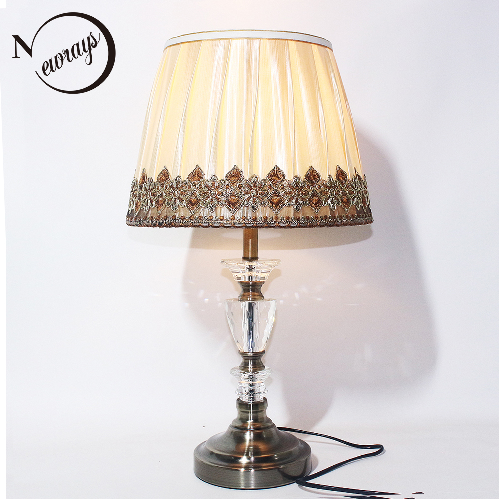 Just Modern Artistic Style Fabric Wood Desk Lights Vintage E27 Led 220v Flower Table Lamp For Reading Bedside Home Living Room Office Led Lamps