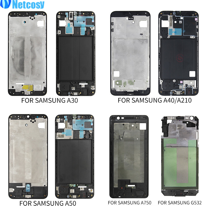 Netcosy Front Housing LCD Frame Bezel Plate Replacement Part For Samsung Galaxy A30 A40 A210 A50 A750 J2 Prime A Frame Board