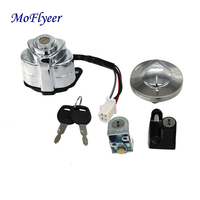 MoFlyeer Motorcycle Ignition Switch Fuel Tank Cover Lock Gas Cap For Honda VT250 Magna250 VT600 Shadow 400 75
