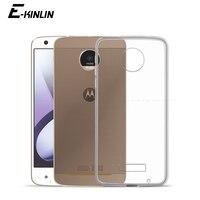 Funda de silicona transparente Ultra delgada para Motorola Moto E7 E7i E6s E6 E5 Plus Power Z3 Play Back funda TPU suave
