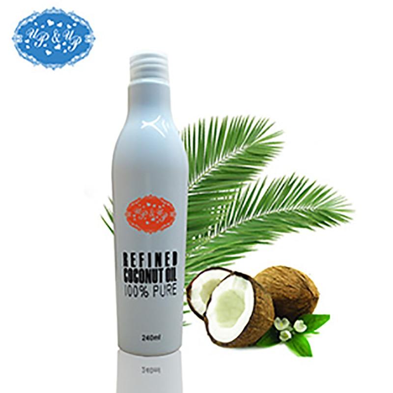 240ml 8oz virgin refined coconut oil skin oil hair oil for massage  pure natural coconut oil for damaged hair treatment