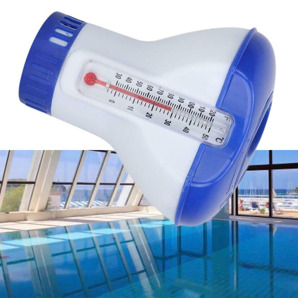 Floating Chemical Chlorine Tablet Automatic Dispenser With Thermometer Swimming Pool Disinfection HUG-Deals