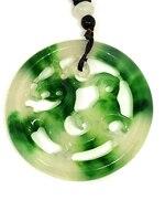 Natural Vintage Handmade Patron Saint Carving Jadeite Jade Pendant