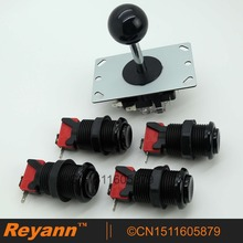 New Black Reyann professional 8 way joystick + 4 x HAPP push button with microswitch for arcade MAME DIY & Arcade fighting games