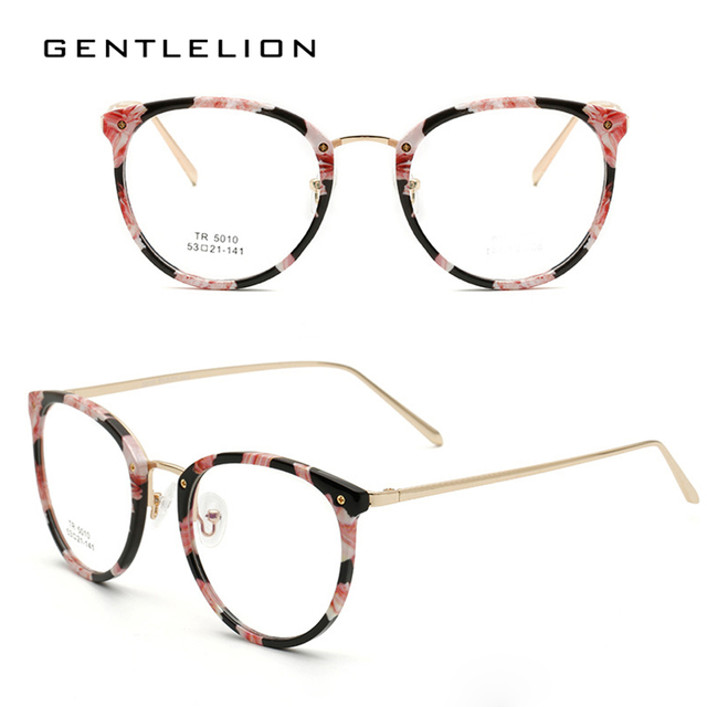 c5b02033c21e TR90 Women's Floral Glasses Frame Optical Frame Eyeglasses Clear  Prescription Eyewear Oculos de Grau High Quality 5010