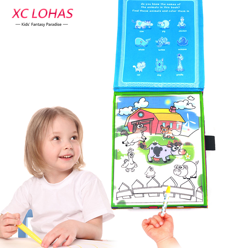 XC LOHAS Children Coloring Book Kids Painting Board