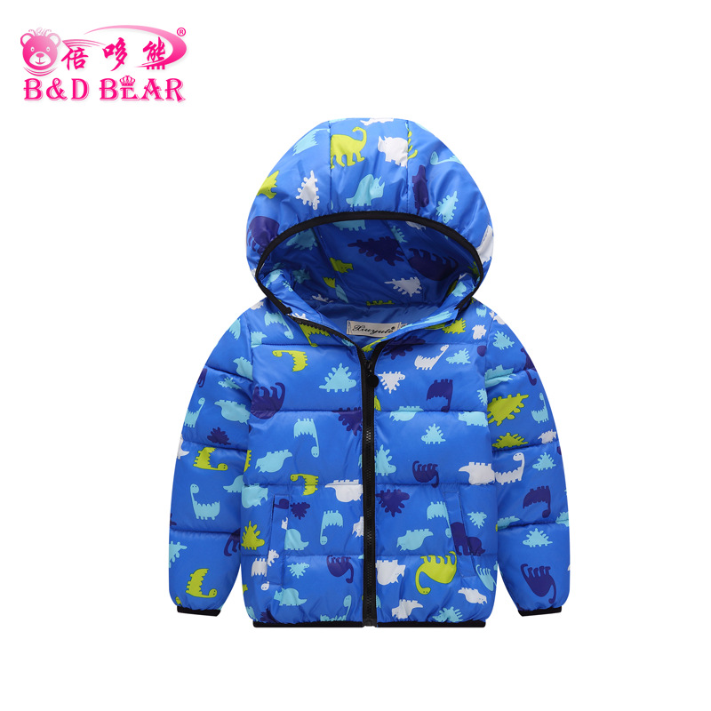 Dinosaur Jacket Boys Warm Jackets for Girls Winter Coat Fashion Children Clothing Kids Hooded Coat Thicken Cotton-padded Jacket 2016 winter dinosaur monster jacket fashion girls boys cotton hooded coat children s jacket warm outwear kids casual wear 16a12