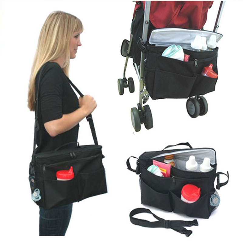 Poussette landau organisateur accessoire enfant panier bébé poussette momie soins infirmiers rangement sac suspendu Multi poches sac à bandoulière