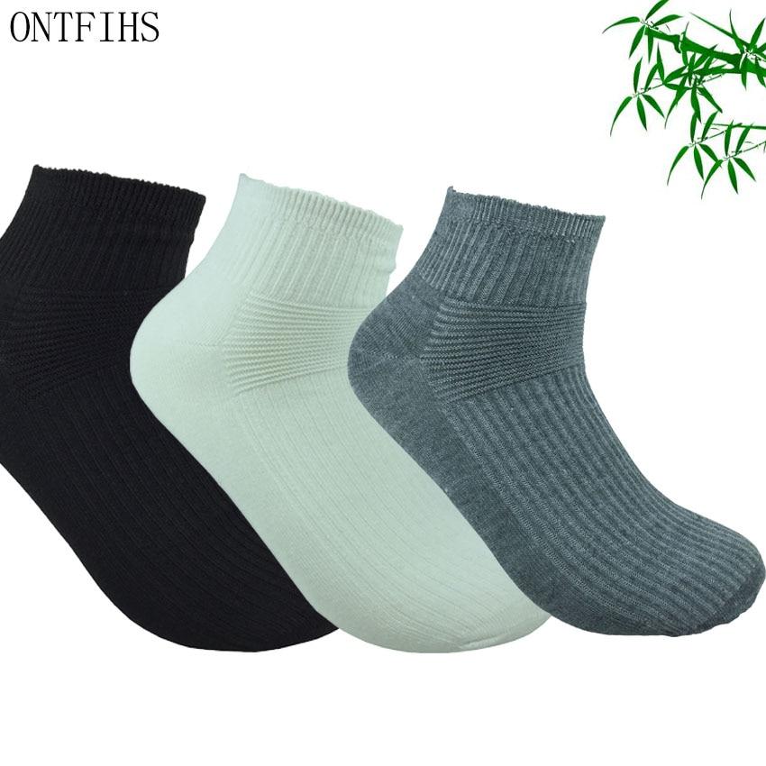 3 Pairs Men Bamboo Socks Male Colorful Casual Summer Short Socks Man Fashion All-Match Ankle Socks Men Dress Socks Brand WZ-4