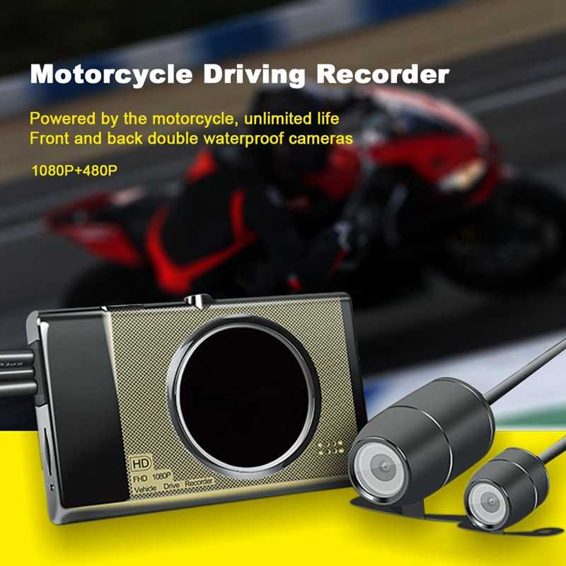 Motorcycle Dash Camera Driving Recorder Locomotive Electric Cam 30W Pixels 99045 30W 7730 Hd 125-Degree Wide-Angle Lens 3-Inch