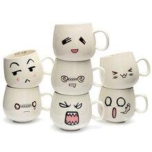 Neue Ankunft Becher Spaß Schönen Niedlichen Weißen Keramik Keramik Tasse Emotionale Gesicht Becher Tee Kaffee Milch Tasse Mit Handgriff 300 Ml