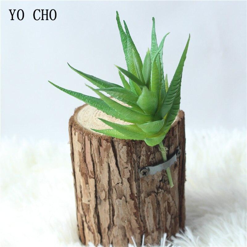 YO CHO 1PC Green Assorted Realistic Faux Artificial ...
