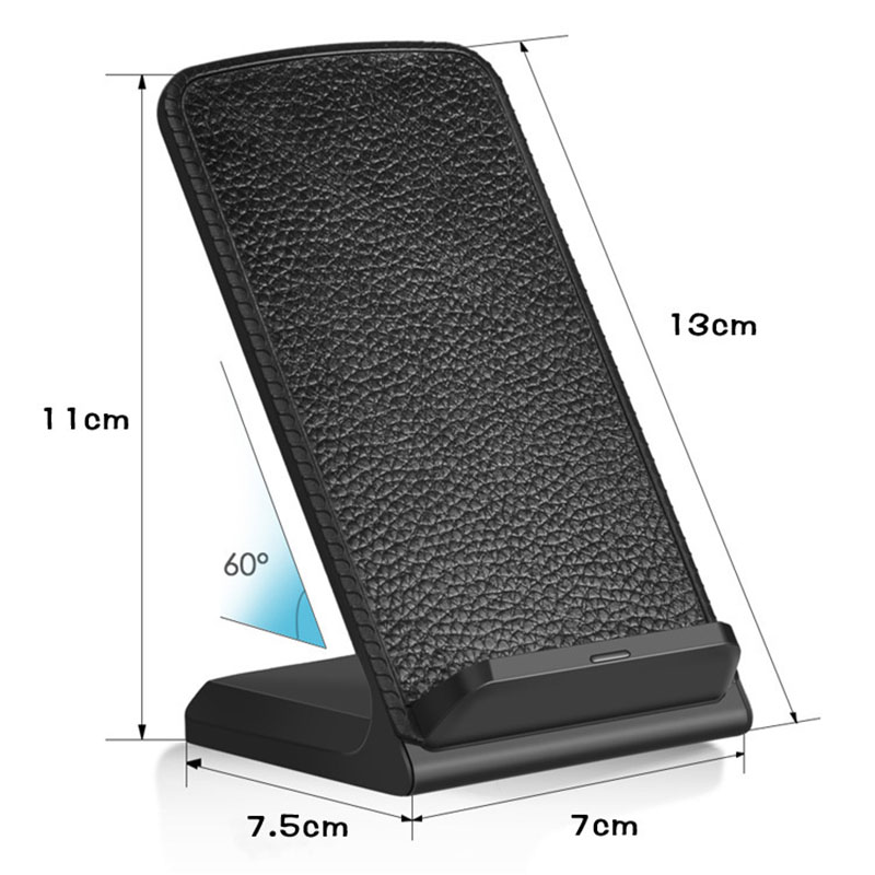 Image 5 - 10W Fast Qi Wireless Charger Phone Stand Wireless Charging Induction Charger For iPhone XR XS Max X 8 Plus Samsung Galaxy S9 S8-in Mobile Phone Chargers from Cellphones & Telecommunications