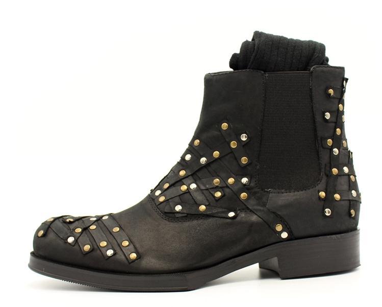 Европейский и американский стиль Мужская обувь патч масло воск Полусапоги из бычьей кожи с заклепками мужские ботинки